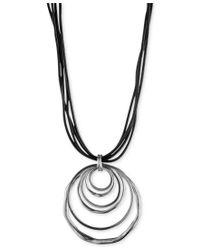 Anne Klein | Multicolor Silver-tone Orbital Pendant Necklace | Lyst