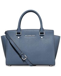 Michael Kors | Blue Michael Selma Medium Satchel | Lyst
