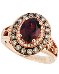 Le Vian | Red Garnet (2 Ct. T.w.) And Diamond (3/4 Ct. T.w.) Ring In 14k Rose Gold | Lyst