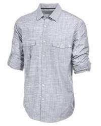 Alfani - Blue Men's Big And Tall Long-sleeve Warren Shirt for Men - Lyst