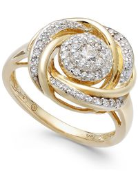 Wrapped in Love - White 14k Gold Diamond Knot Ring (1/2 Ct. T.w.) - Lyst