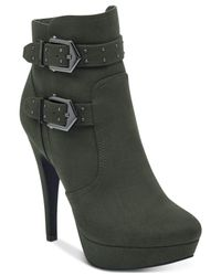 G by Guess - Green Dalli Booties - Lyst