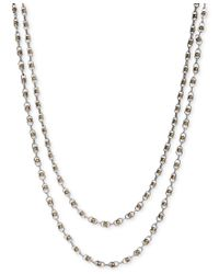 Lucky Brand | Metallic Two-tone Bead Two-row Strand Necklace | Lyst