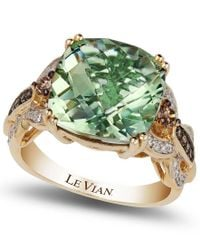 Le Vian - Green Amethyst (6 Ct. T.w.) And Diamond (1/3 Ct. T.w.) Ring In 14k Gold - Lyst