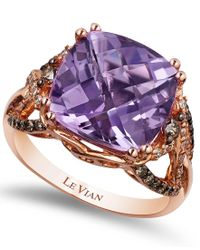 Le Vian | Purple Amethyst (6 Ct. T.w.) And Diamond (1/2 Ct. T.w.) Ring In 14k Rose Gold | Lyst