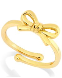 kate spade new york | Metallic Bow Adjustable Ring | Lyst