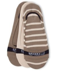Sperry Top-Sider | Brown Men's No-show Socks 3-pack | Lyst