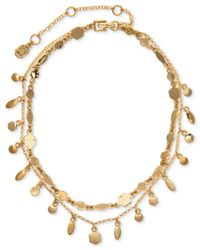 Ivanka Trump | Metallic Two-row Stone Accented Choker Necklace | Lyst