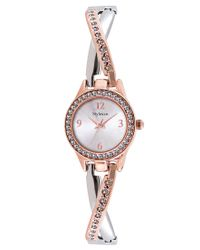 Style & Co. Metallic Women's Two-tone Criss-cross Bangle Bracelet Watch 24mm Sy033srg