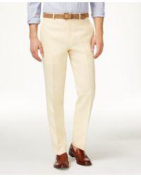 aa089d4fbf Lyst - Lauren by Ralph Lauren Solid Linen Dress Pants in Yellow for Men