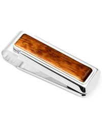 M-clip | Brown Wood Inlay Money Clip for Men | Lyst