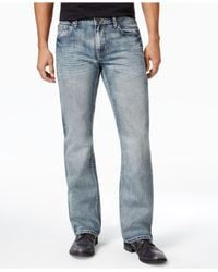 INC International Concepts - Blue Men's Modern Boot-cut Faded Jeans for Men - Lyst