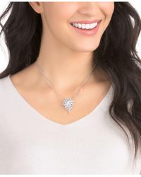 Swarovski - Metallic Silver-tone Crystal Pendant Necklace - Lyst