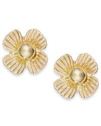 Macy's   Metallic Clover Stud Earrings In 10k Gold   Lyst