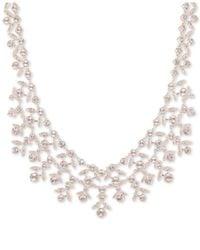 "Givenchy Metallic Crystal Collar Necklace, 16"" + 3"" Extender"