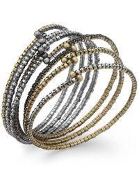 ABS By Allen Schwartz | Metallic Tri-tone Crystal Stretch Bracelet Set | Lyst