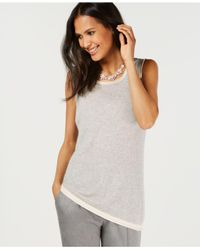 Charter Club Gray Pure Cashmere Shell In Regular & Petite Sizes, Created For Macy