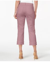 Style & Co. Pink Curvy Capri Jeans