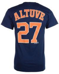 Majestic Filatures Blue Men's Jose Altuve Houston Astros Official Player T-shirt for men