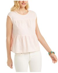 Style & Co. Pink Cotton Tiered Tank Top, Created For Macy