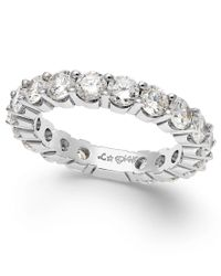 Macy's | Metallic Sizeable Diamond Eternity Band In 14k White Gold (2 Ct. T.w.) | Lyst