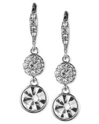 Givenchy - Metallic Crystal Small Pave Drop Earrings - Lyst