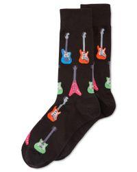Hot Sox | Black Electric Guitar Crew Socks | Lyst
