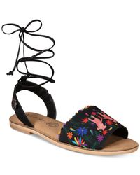 Loly In The Sky Multicolor Pom Pom Sandals From The Workshop At Macy