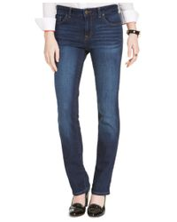 Tommy Hilfiger Blue Dark Wash Straight-leg Jeans, Only At Macy's