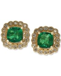 Effy Collection - Metallic Emerald (1 Ct. T.w.) And Diamond (1/3 Ct. T.w.) Earrings In 14k Gold - Lyst