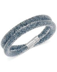 Swarovski | Blue Convertible Double Wrap Stardust Bracelet | Lyst