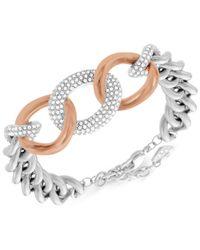 Swarovski - Metallic Two-tone Crystal Link Bracelet - Lyst