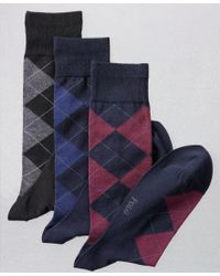 Polo Ralph Lauren | Blue Ralph Lauren Men's Socks, Dress Argyle Crew 3-pack for Men | Lyst