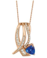 Le Vian | Pink Tanzanite (1 Ct. T.w.) And Diamond (5/8 Ct. T.w.) Pendant Necklace In 14k Rose Gold | Lyst
