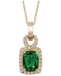 Le Vian - Metallic Chrome Diopside (1-1/3 Ct. T.w.) And Diamond (1/8 Ct. T.w.) Pendant Necklace In 14k Gold - Lyst