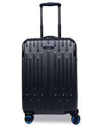 """Revo Blue Rain 20"""" Hardside Expandable Carry-on Spinner Suitcase, Created For Macy"""