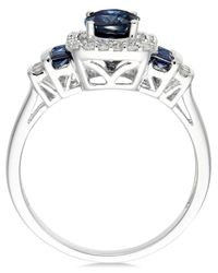 Macy's Blue Ruby (1 Ct. T.w.) And Diamond (1/5 Ct. T.w.) Ring In 14k Gold (also Available In Sapphire And Emerald)