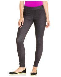 Hue | Gray Curvy Fit Jeans Leggings | Lyst