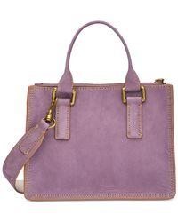 Calvin Klein - Purple Brynn Suede Mini Crossbody - Lyst