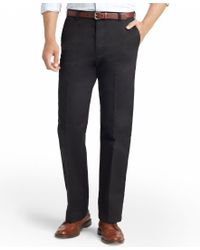 Izod - Black American Straight-fit Flat Front Chino Pants for Men - Lyst