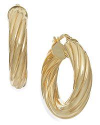 Macy's | Metallic Twist Hoop Earrings In 14k Gold | Lyst