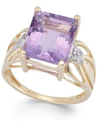 Macy's | Pink Amethyst (5-1/2 Ct. T.w.) And Diamond Accent Ring In 14k Gold | Lyst
