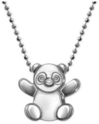 Alex Woo - Metallic Little Cities By Panda Pendant Necklace In Sterling Silver - Lyst