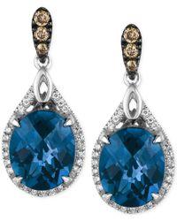 Le Vian | London Blue Topaz (7-7/8 Ct. T.w.) And Diamond (1/3 Ct. T.w.) Earrings In 14k White Gold | Lyst