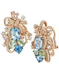 Le Vian | Pink Crazy Collection Multi-stone Cluster Drop Earrings In 14k Rose Gold (14-1/6 Ct. T.w.), Only At Macy's | Lyst