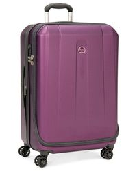 "Delsey | Purple Helium Shadow 3.0 29"" Hardside Spinner Suitcase for Men 