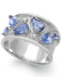 Macy's | Metallic Tanzanite (1-3/4 Ct. T.w.) And Diamond Accent Ring In Sterling Silver | Lyst