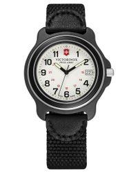 Victorinox   Men's Original Black Nylon Strap Watch 39mm 249089 for Men   Lyst