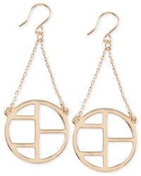 French Connection | Metallic Gold-tone Cut-out Earrings | Lyst