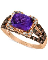 Le Vian | Pink Chocolatier Amethyst (1-3/8 Ct. T.w.) And Diamond (3/4 Ct. T.w.) Ring In 14k Rose Gold | Lyst